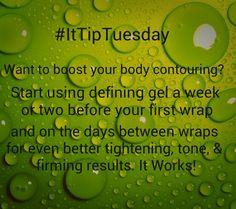 It Works Tip Tuesday!  www.sherikmartin.myitworks.com