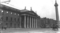 The General Post Office after the Easter Rising 1916 © RTÉ Stills Library id: Romeo And Juliet Costumes, General Post Office, Easter Rising, Dublin, Ireland, Louvre, Street View, War, Explore