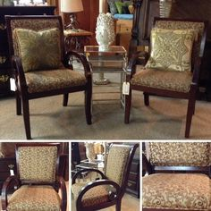 Accent Chair - Gold Fabric Curve Arm Chair - $143.95