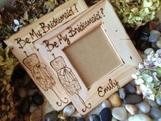 Be My Maid of Honor Personalized Rustic Frame by PrinceWhitaker