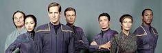 Star Trek Enterprise crew.