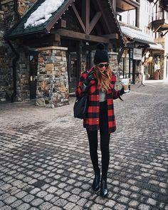Buffalo plaid coat in Tahoe
