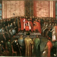 Stanisław Żółkiewski painting in 1840 of Tsar Vasily-Vasili IV Ivanovich-Ioannovich Shuyskiy-Shuisky (1552-1612) with brothers Ivan & Dmitry at the Warsaw parliament of Poland. Copy of painting of Tommaso Dolabella. The Romanov's elected Tsar's in 1613 recognized Vasily-Vasili IV Ivanovich-Ioannovich Shuyskiy posthumously as a legal Tsar & during their negotiations with Poland demanded the right to rebury his body in Russia.