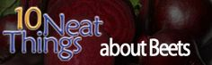 Want to know more about beets? This is a cool site. Manitoba Home & Gardener Living Magazine - Expert Manitoba Gardening Advice for Manitoba growing con