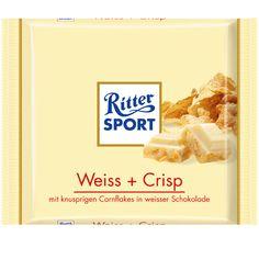 RITTER SPORT Weiss + Crisp Schokolade