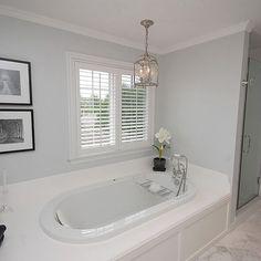 Wonderful Light Grey Paint Traditional #Bathroom