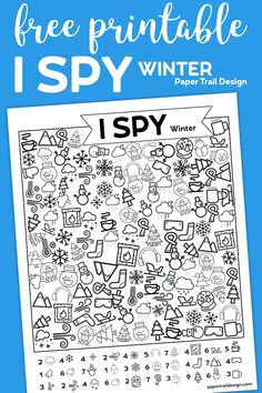 Free Printable I Spy Winter Activity - Paper Trail Design