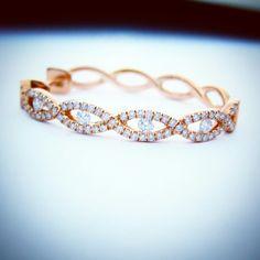 Rose Gold Diamond Earings Unique Design By ZARE JEWELLERY
