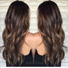 Caramel Balayage Highlights Dark Hair