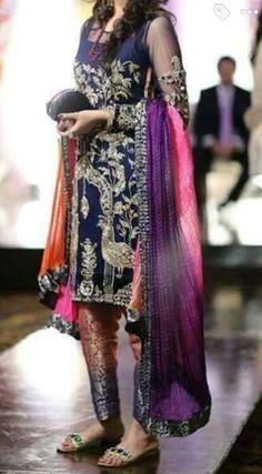 Pakistani handmade embroiderd shirt with pajama