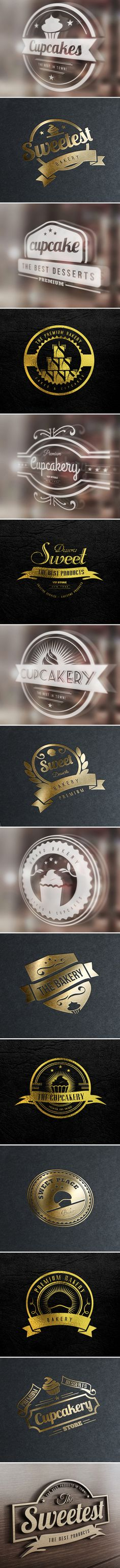15 Bakery Cupcakes and Cakes Labels & Badges Logos is a set of premium labels and badges combined with vintage and modern style that you can use on Logos with emblem style, on bakery labels, restaurants, coffee and cupcake shops, bar and other places. Als…