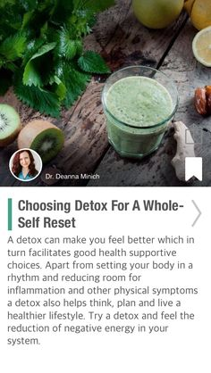 Choosing Detox For A Whole-Self Reset - via @CureJoy