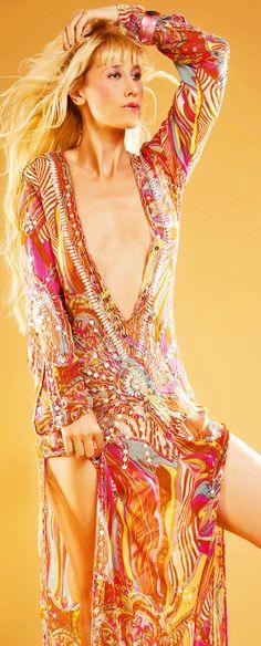 Long embellished tunics, kaftans by HAREM swimwear