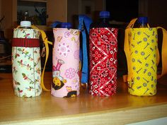 Handmade Gift Ideas: How To Make A Water Bottle Carrier | Craftster Blog