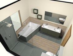 Podometni komplet za tuš kvadratnih oblik ELLE. Corner Bathtub, Bathroom, Taps, Washroom, Bath Room, Bath, Bathrooms