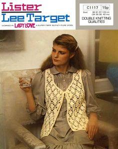 Vintage Ladies Waistcoat, Crochet Pattern, 1960 (PDF) Pattern, Lister 1117 by LittleJohn2003 on Etsy