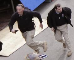 Photos: Private military operatives hired to work the Boston marathon with black backpacks, radiation detectors, tactical gear