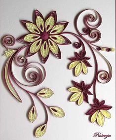 #quilling #quillingart #paperflowers #paperart #handmade #quillingcard #quillingvirágok #pinterzsudesign