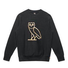 OWL LOGO CREWNECK - BLACK
