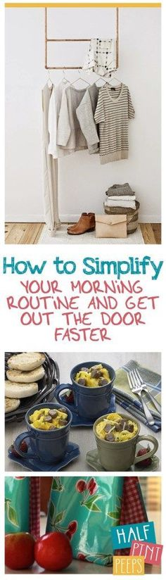 How to Simplify Your Morning Routine and Get Out The Door Faster| How to Get Out the Door Faster, Morning TIps and Tricks, How to Get Out Faster In the Morning, Simplify Your Morning Routine, How to Simplify Your Morning Routine, Popular Pin