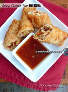Pork, Shrimp & Chicken Egg Rolls