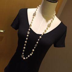 chanel pearl necklace - Google Search Chanel Pearl Necklace, Chanel Pearls, Google Search, Classic, Image, Jewelry, Fashion, Derby, Moda