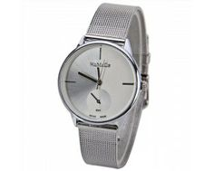 $4.05 WoMaGe Quartz Watch with Strips Indicate Steel Watch Band for Women - White
