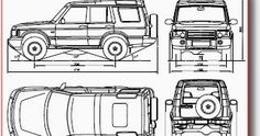 Vectror blueprints for cars, trucks, busses, motorcycles and other
