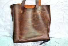 Hand crafted real leather tote...  Visit: https://m.facebook.com/lchsales/ https://m.facebook.com/leatherhobby/