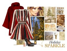 """Holiday Sparkle"" by katiethomas-2 ❤ liked on Polyvore featuring Dolce&Gabbana, Love Moschino, Giorgio Armani, Givenchy, Van Cleef & Arpels and Charlotte Tilbury"