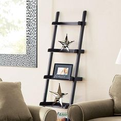 Have been looking for something like this for a wall in my living room, who knew I might find it at sears? Leaning Wall Shelf, Wall Shelves, Shelving, Canada Shopping, Home On The Range, Ladder Bookcase, My Living Room, Frames On Wall, Online Furniture
