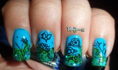 Lotus Oriental Stamping Nail Art Fun & easy! AVAILABLE on our website!  Visit www.lvnailart.com