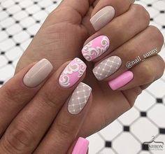 Imagem de nails, pink, and sweet