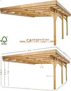 Shed Plans - Carport bois à Prix Imbattable : Carport adossant bois 2 voitures 31.26mc 0700425 Now You Can Build ANY Shed In A Weekend Even If You've Zero Woodworking Experience!