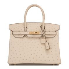 #Hermes #Birkin #Bag Parchemin Ostrich Gold Hardware