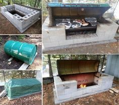 DIY LARGE ROTISSERIE BBQ PIT diy crafts craft ideas diy crafts do it yourself diy projects crafty diy images diy pictures do it yourself crafts