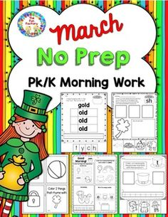 Print and Go  Pk – K morning work. 25 black and white pages for your students to practice emergent reading skills.  • 5 pages with syllables, letter identification, vocabulary, math  • 5 pages of initial sound . • 5 pages of rhyming   • 5 pages of ending letter sound correspondence. • 5 pages of vocabulary