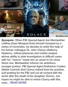 Lionsgate had a limited release of SOLACE movie in theaters, but it's streaming on Amazon now. Check out T&T's post #psychologicalthriller