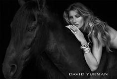 Gisele, maravilhosa, posando para a marca de joias David Yurman.
