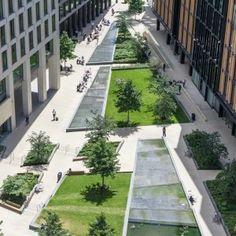 PANCRAS SQUARE Townshend Landscape Architects, King Cross, London, UK © John Sturrock