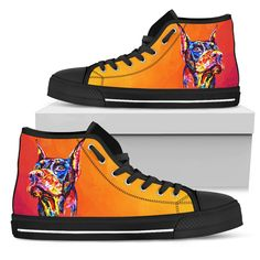 Dog Pattern, Vans Sk8, Animal Design, Wearable Art, High Top Sneakers, Custom Design, Shoes, Products, Fashion