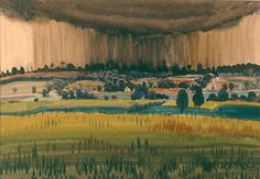Charles Burchfield (1893-1967)-Landscape with Rain 1917