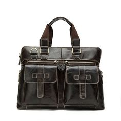Handmade Genuine Leather Laptop Briefcase Messenger Bag * More info could be found at the image url.