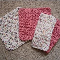 Quick and easy crocheted dishcloth                                                                                                                                                      More