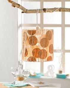 Lampe im Naturlook mit Korkpapier - Basteln mit Kork