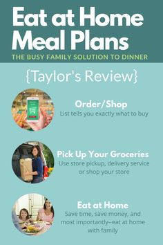 Here's Taylor's review of the Eat At Home monthly meal plans, to help you save time and money, while being able to eat meals as a family, at home, more often {on Home Storage Solutions 101} #EatAtHome #MealPlanning #MealPlans Eat Meals, Home Meals, Household Tips, Household Products, Used Store, Monthly Meal Planning, Home Storage Solutions, 15 Minute Meals, Easy Eat