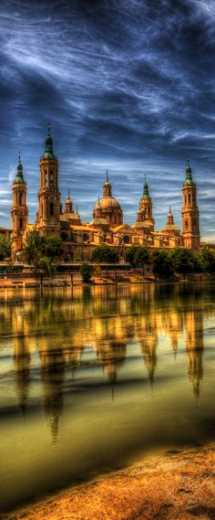 The Basilica of Our Lady of the Pillar, Zaragoza, Spain wanderlust @lavieannrose