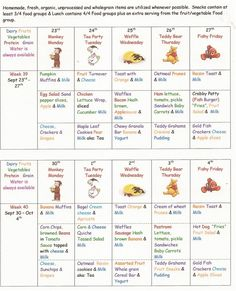 Daycare menu sample   Daycare menu   Pinterest   Daycare menu and Menu