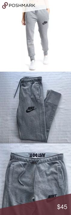 The Nike Rally Jogger Women's Sweatpants The Nike Rally Jogger Women's Sweatpants are made with a cozy cotton blend in a slim-fitting profile for warmth and a streamlined look. Style/Color: 718823-091  • Women's size Medium  • NEW with tags • No trades •100% authentic Nike Pants Track Pants & Joggers