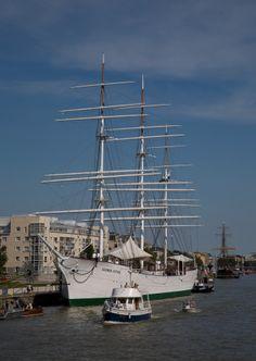 """Suomen Joutsen"". Finland, built 1902  in Nantes,  Brittany."
